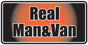 Real man and van
